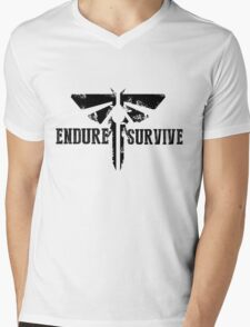 "The Last of Us ""Endure and Survive"" Firefly Emblem Mens V-Neck T-Shirt"