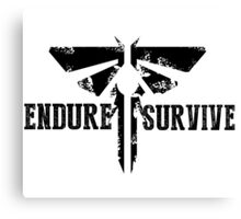 "The Last of Us ""Endure and Survive"" Firefly Emblem Canvas Print"