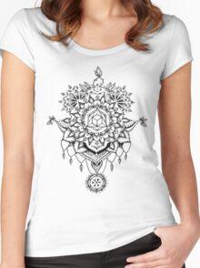 Geometric Mandala Women's Fitted Scoop T-Shirt