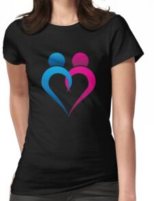abstract heart design Womens Fitted T-Shirt