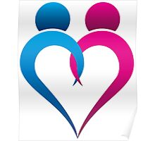 abstract heart design Poster