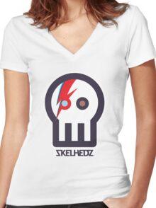 SKELHEDZ : Ziggy Women's Fitted V-Neck T-Shirt