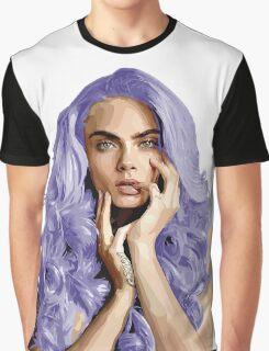 Frozen Purple Hair Graphic T-Shirt