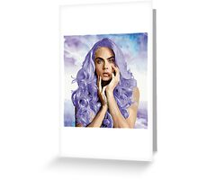 Frozen Purple Hair Greeting Card