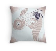 Alone in the deep blue sea Throw Pillow