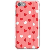 valentine' day background design iPhone Case/Skin