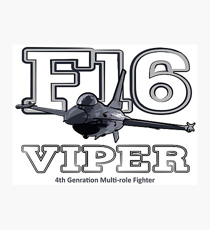 F16 fighter the Viper Photographic Print