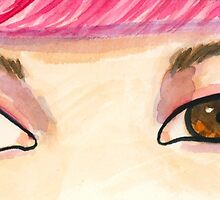 The Eyes Have It - Pink by DebraMejia