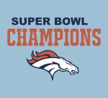 Denver Broncos Champions Super Bowl 50 2016 Kids Tee