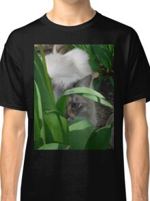 Cat in the Tulips Classic T-Shirt