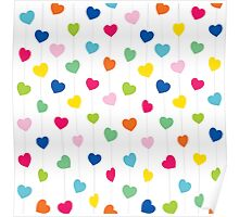 colorful heart shape background design Poster