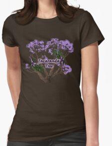 Jacaranda Tree Womens Fitted T-Shirt