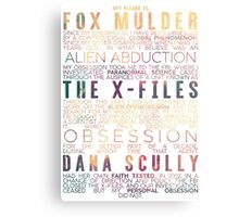 The X-Files Revival - Light Metal Print