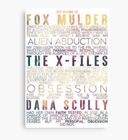 The X-Files Revival - Light Canvas Print