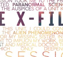 The X-Files Revival - Light Sticker