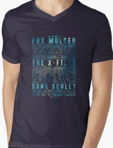 The X-Files Revival - Blue Mens V-Neck T-Shirt