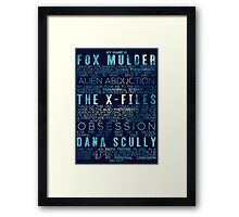 The X-Files Revival - Blue Framed Print