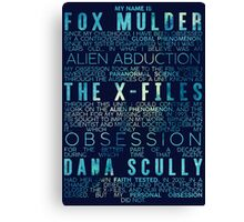 The X-Files Revival - Blue Canvas Print