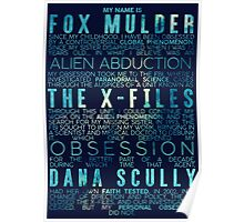 The X-Files Revival - Blue Poster