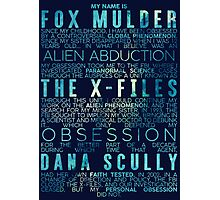 The X-Files Revival - Blue Photographic Print