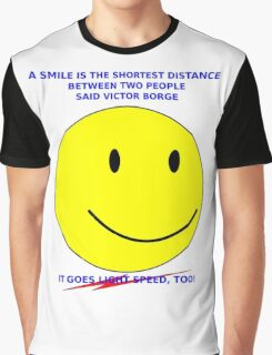 Light-speed Smile Graphic T-Shirt