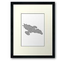 Firefly The Ballad of Serenity lyric design Framed Print