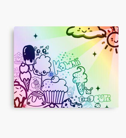 Kawaii Cute Canvas Print