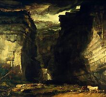 James Ward - Gordale Scar (A View of Gordale, in the Manor of East Malham in Craven, Yorkshire, the Property of Lord Ribblesdale), Tate Britain by Adam Asar