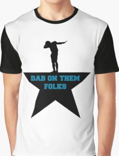 Cam newton Dab black star Graphic T-Shirt