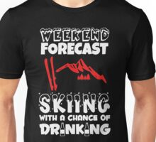 Skiing With A Chance Of Drinking Unisex T-Shirt