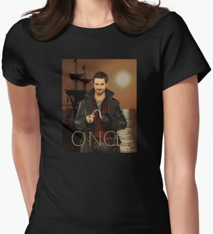 "Captain Hook Comic Poster ""Sunset"" Womens Fitted T-Shirt"