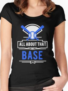 Softball and Baseball Women's Fitted Scoop T-Shirt