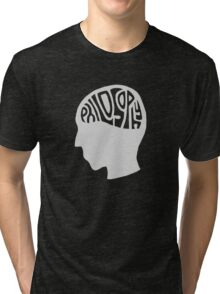 This is Your Brain on Thinking (Color: Intellectual Grey) Tri-blend T-Shirt