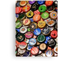 Beer bottle caps Canvas Print