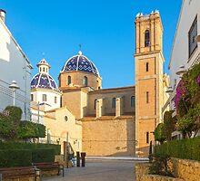 "Church of La Mare de Déu del Consol (""Our Lady of Solace"") in Altea  by Ralph Goldsmith"