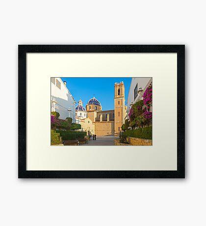 "Church of La Mare de Déu del Consol (""Our Lady of Solace"") in Altea  Framed Print"