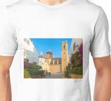 "Church of La Mare de Déu del Consol (""Our Lady of Solace"") in Altea  Unisex T-Shirt"