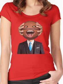 Suited Ball Head Women's Fitted Scoop T-Shirt