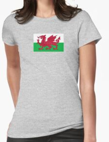 Wales National Flag - Welsh Rugby Football Fan Sticker T-Shirt Bedspread Womens Fitted T-Shirt