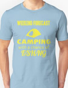 Weekend Forecast Camping With Fishing Unisex T-Shirt