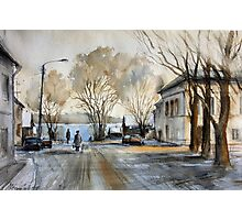 Late Autumn in the Town Valday Photographic Print