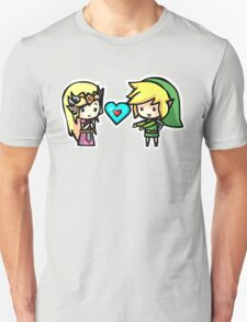 Zelda x Link Valentine s day heart love T-Shirt