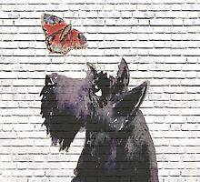Scottie Dog & Butterfly by archyscottie