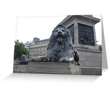 Landseer Lion, Trafalgar Square Greeting Card