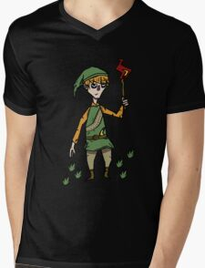 Link x don't starve Mens V-Neck T-Shirt