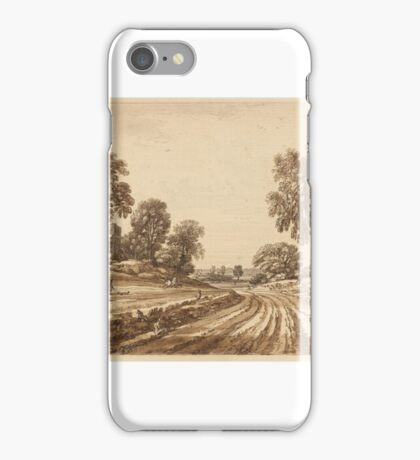 Jean Baptiste Claude Chatelain Title Landscape with Road and Mansion iPhone Case/Skin