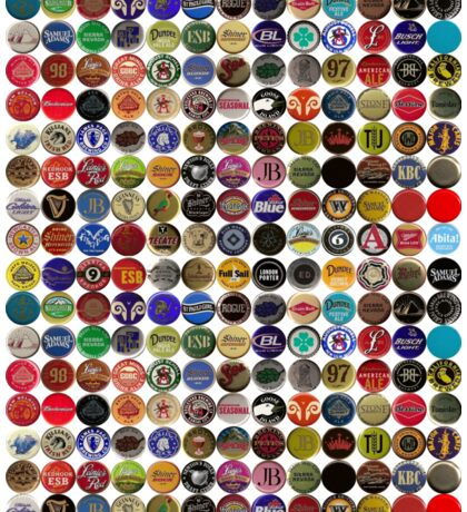 Beer bottle caps 2 Sticker