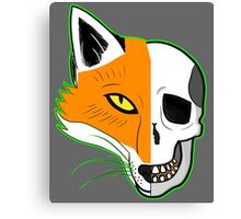 Fox Scull Canvas Print