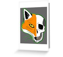 Fox Scull Greeting Card