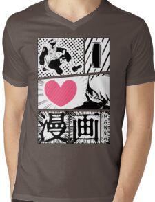 iLoveManga_2 Mens V-Neck T-Shirt